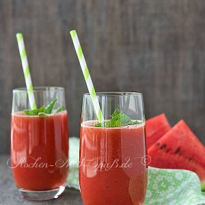 Wassermelonen-Minze-Smoothie